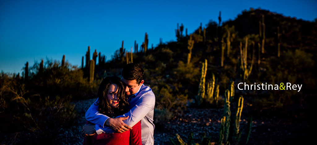 Christina & Rey – Engagement Shoot at Desert Botanical Gardens