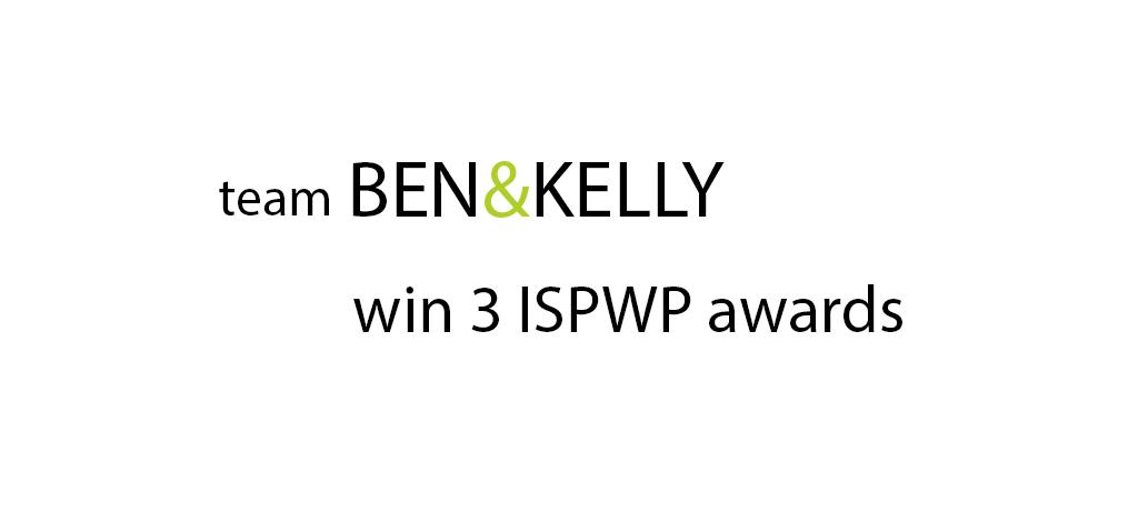 We won 3 ISPWP Top Twenty Awards!!!