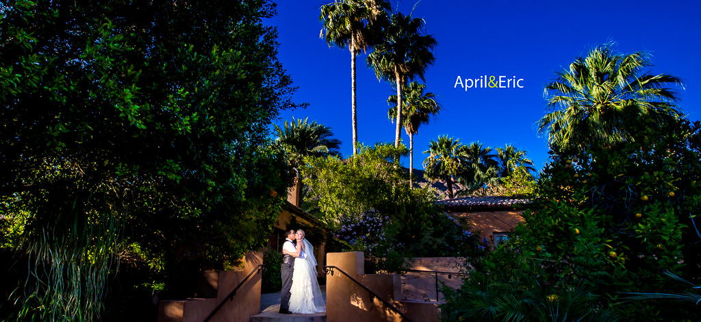 April & Eric – wedding at The Royal Palms