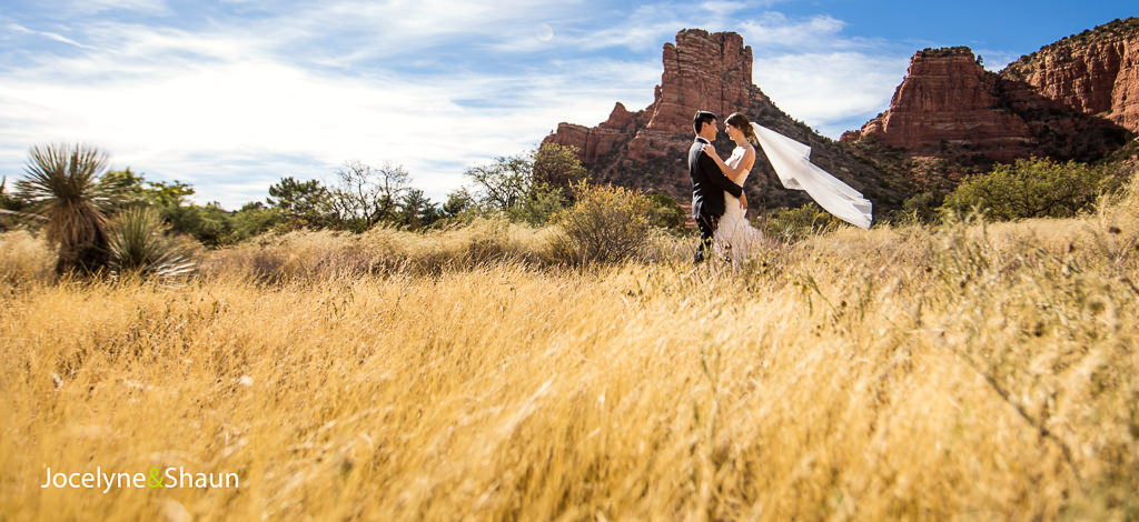 Jocelyne and Sean – Wedding at the Sedona Golf Resort